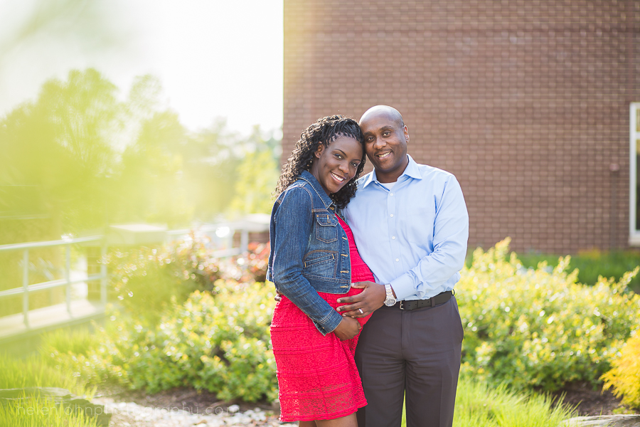 Beautiful African American Couple Maternity Pose