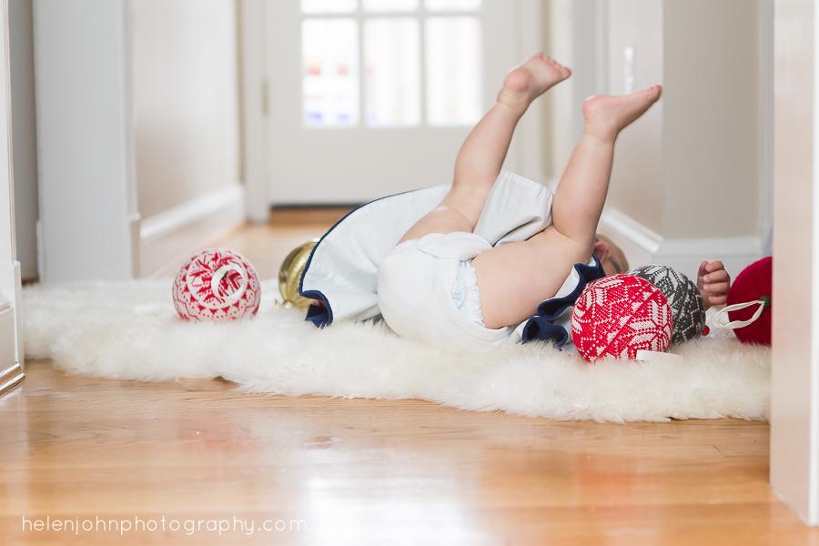 little girl fell backwards