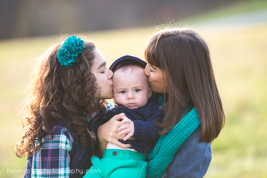 Brother and sisters kisses