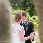 brides dancing on wedding day outdoors