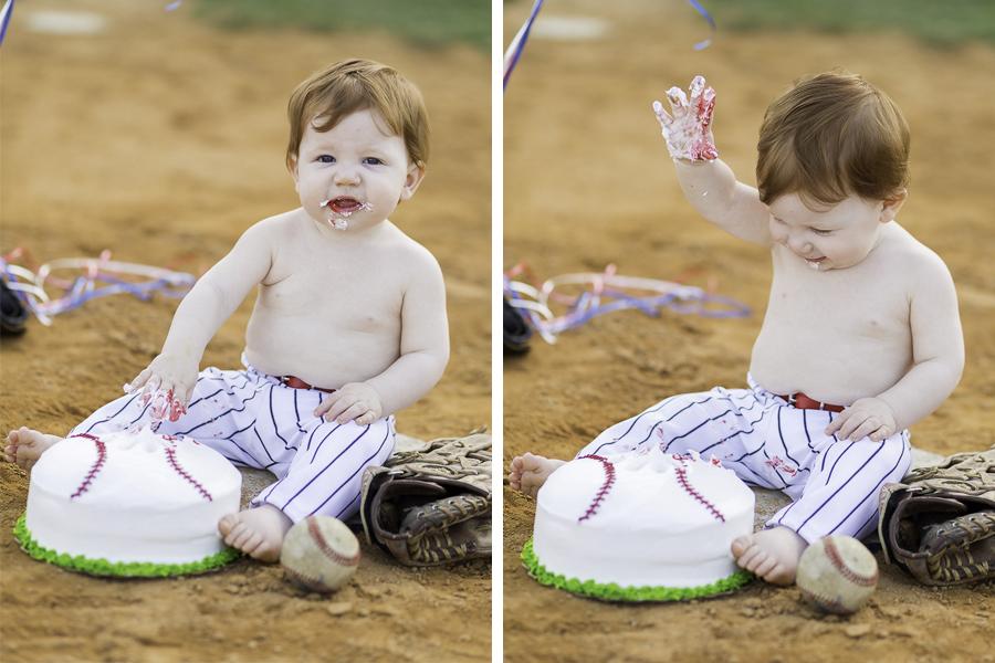 baseball cake for first birthday