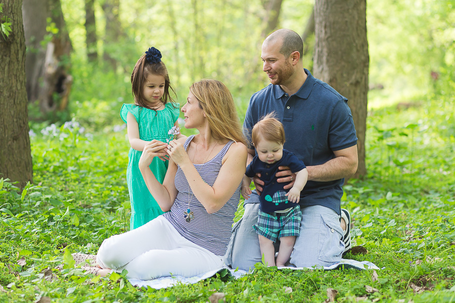 candid outdoor family portrait